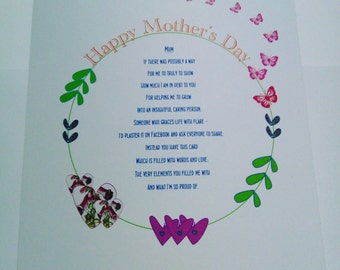 Mother's Day Card - Poem - Poetry - Love