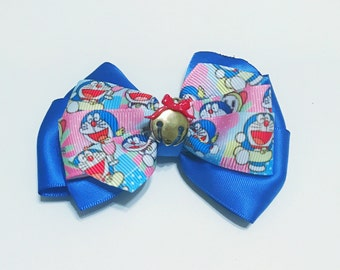 Doraemon: blue large hair/dog bow