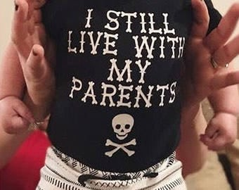 I Still Live With My Parents - Newborn Outfit Boy, Baby Outfit Boy, Funny Bodysuit, Funny Baby Clothes, Funny Baby Shirt, Toddler Outfit Boy