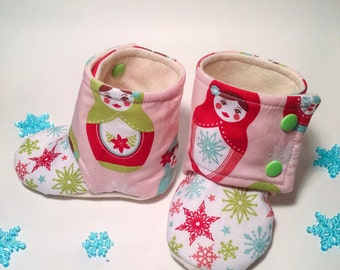 Baby booties // Crib shoes // Soft Shoes // Baby slippers