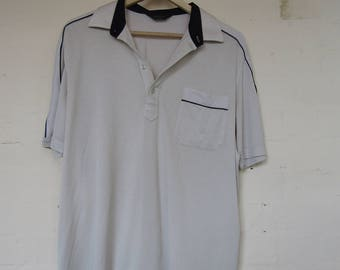 Mens vintage polo neck shirt - Large
