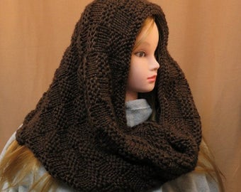 Knit Hooded Cowl/ womens hooded cowl/ Knit snood/ Knit scoodie/ snoood/ scoodie/ womens fashion/ knitted hooded cowl/ oversized cowl/ cowl