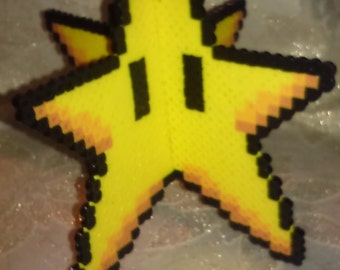 3D Perlere Bead Mario Star
