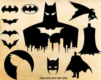 Batman svg file, Batman clipart, Batman silhouette, Batman Mask, Cut files for Cricut, Svg files for Silhouette Cameo, dxf eps png svg pdf