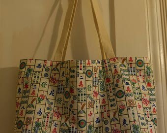 Mahjong All Purpose Tote Bag, Market Bag, Grocery, Beach, Shopping