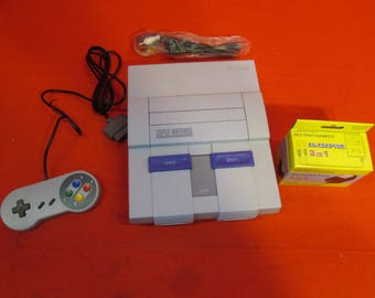 Super Nintendo Snes Video Game Console  - RETRO VINTAGE GAMING