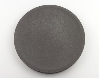Round tray in anthracite clear concrete / / empty Pocket concrete / / decorative concrete tray / / concrete tray / / cast-iron serving tray