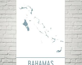 Bahamas Map, Bahamas Art, Bahamas Print, Bahamas Poster, Bahamas Wall Art, Bahamas Gift, Map of Bahamas, Bahamas Decor, Bahamas Art Print