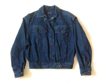 Vintage Calvin Klein dark wash denim jacket