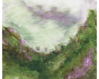 abstract nature art - art for the home - digital download - purple and green art - abstract landscape - modern landscape art - abstract