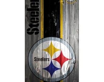 Please Read The Item Details - CUSTOM VINYL Cornhole Boards DECAL Pittsburgh Steelers Wood Bag Game Sticker