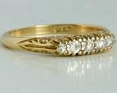 Vintage ring 18 carat gol...
