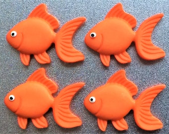 Goldfish Magnets in Decorative Tin   Set of 4   Super Strong   Fridge Magnets   Tropical Decor   Kids Room Decor   Kids Gift   Animal Art
