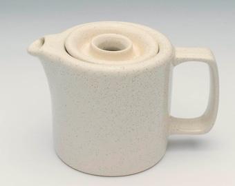 Vintage teapot, 1970's pottery teapot, retro teapot, vintage ceramic, cream teapot, ceramic teapot, white chinaware, vintage pottery,