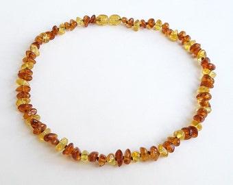 Polished lemon cognac amber teething necklace amber baby necklace cognac lemon baltic amber teething necklace amber kids jewelry baby gift