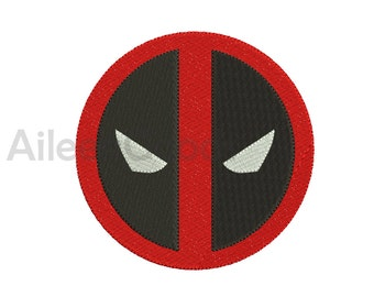 Deadpool Logo Embroidery  design 9 Size  INSTANT download machine embroidery