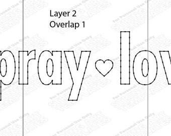 Eat Pray Love - String Art Template