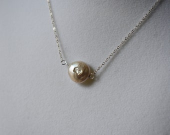 Freshwater Pearl and Sterling Silver Necklace