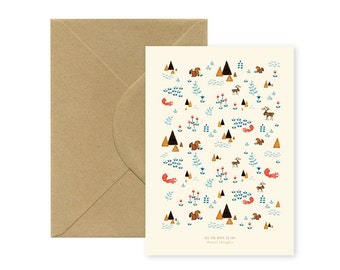 Season's greetings - Squirrels - Big folded A5 Card