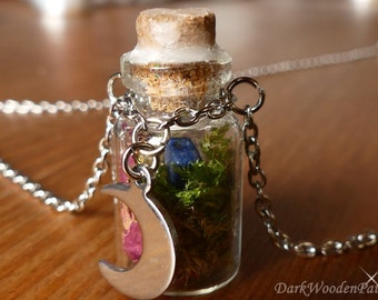 Magic glass bottle necklace