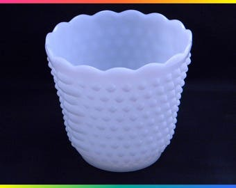 Vintage Fire-King Oven Ware Large Planter or Pot, Hobnail Milkglass by Anchor Hocking (2)