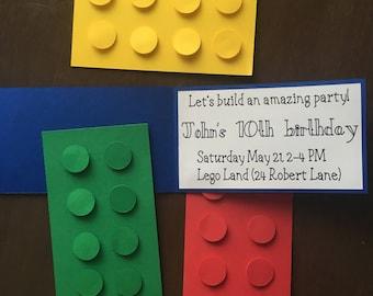 lego birthday invitation/birthday invitation/lego invitation/kids lego party/lego party/birthday party/lego celebration/party invitation