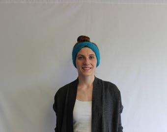 Light Blue Twist Headband/Earwarmer