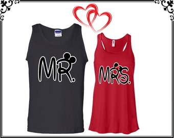 Couple Tank Top Couple Tanks Couple Tops Mr Mrs Matching Couple Tank Mr Mrs Tank Mr And Mrs Tops Gift For Couple