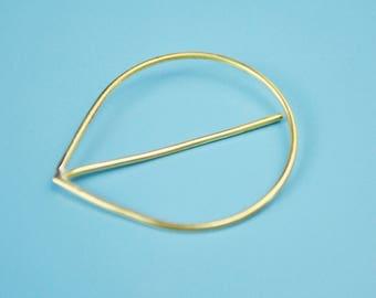 Minimalistic brass brooch