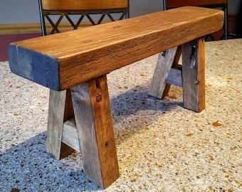 The A-Stool, Bedside Step Stool,  Reclaimed wood step stool