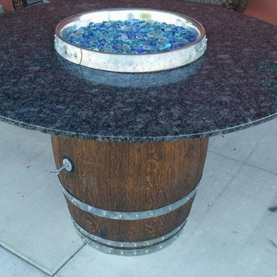 Wine Barrel Fire Pit Table Napa