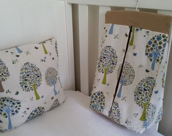 Nappy stacker, diaper stacker, bird and tree print FREE CUSHION COVER