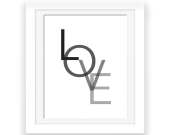 Love Print, Love Printable, Typography Wall Prints, Printable Art, Love Art, Minimalist Art, Love Sign, Gift For Couples, Love Poster