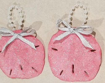 Pretty in Pink. Set of two sand dollars.