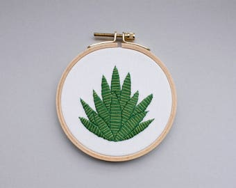 Embroidery picture - Agave in the embroidery ring