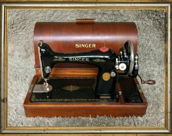 FREE Shipping* | Singer 66K | Antique Sewing Machine | Made in Clydebank | Scotland 1927 | In Working Condition | Antigua Máquina de Coser