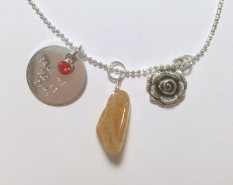 Beauty inspired Citrine charm necklace
