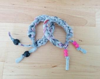 Upcycled Jersey Tee Crochet Bracelet