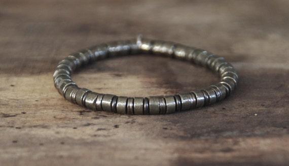 "Bracelet man in pyrite INZ - I - model ""Eliot"""