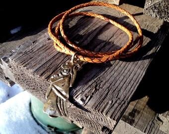 "Viking Amulet ""Valkyrie."" Handmade bronze."