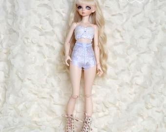 Shiny,Glittery, High-waist hotpants for Minifee/BJD/Unoa/MSD/Fairyland