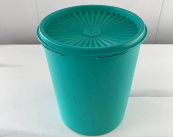 Vintage Tupperware Turquoise Canister
