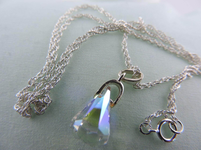 swarovski xirius raindrop crystal ab pendant