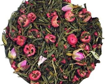 Tea - Loose Leaf tea - Cranberry Rose Tea- Sencha Green Tea