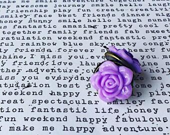 Lavendar Flower Stud, lilac Flower Post Earrings. Flower Stud Earrings,Flower Studs,Flower Earrings,purple lavendar Earrings, gift for her,