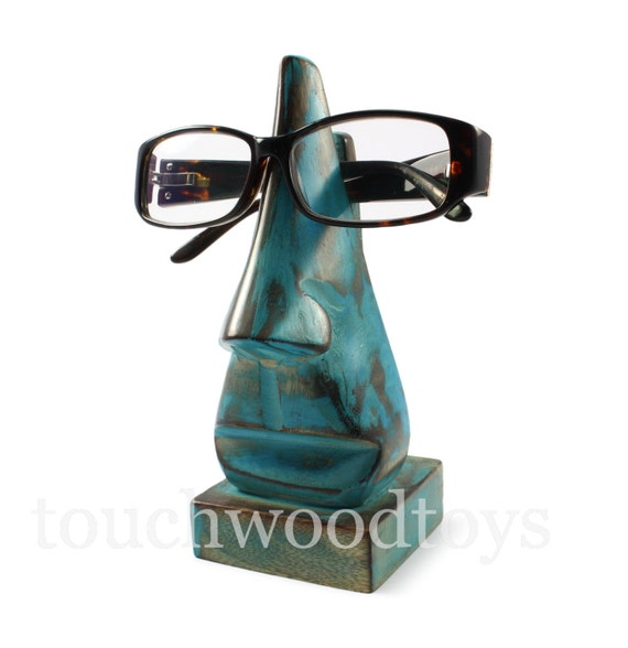 Glasses holder handmade wooden nose glasses frame stand