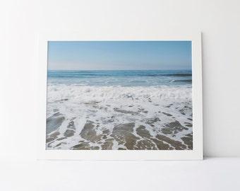 Beach Waves Print | Nature Photograph | Santa Monica Beach | Printable Wall Art