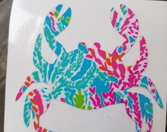 Lilly Inspired Crab Vinyl Decal