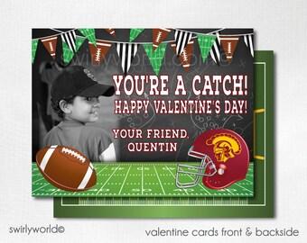 football valentine cards digital football valentines youre a catch football valentine cards - Football Valentine Cards