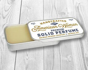 Solid Perfume / Womens fragrance / American Woman / gifts for her / gifts for women / birthday gift / mothers day / jasmine perfume